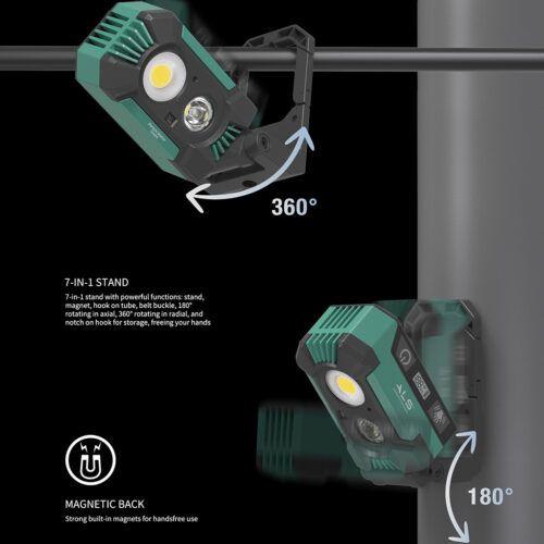 Multifunktionel arbejdslampe med 1500 lumen