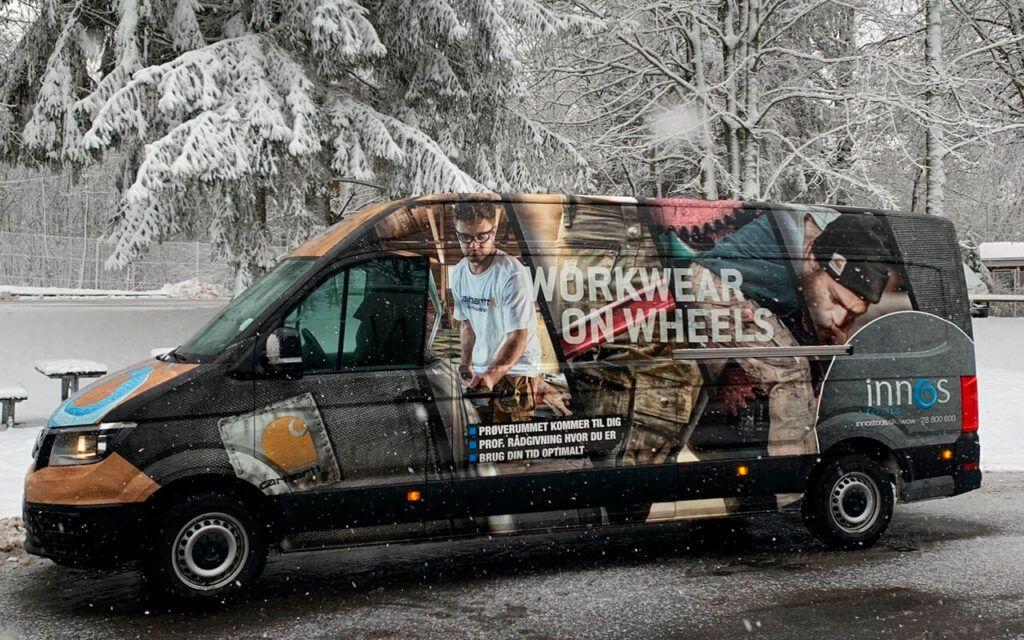 Innos Tools Workwear on wheels - det rullende prøverum i snevejr