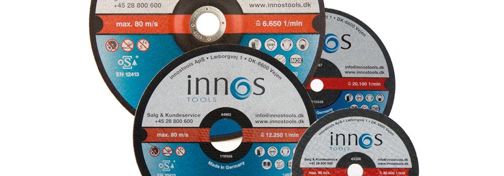 Innos Tools skæreskiver i alle standard størrelser, Svends fra Svends Demontering er rigtig glad for Innos skæreskiver