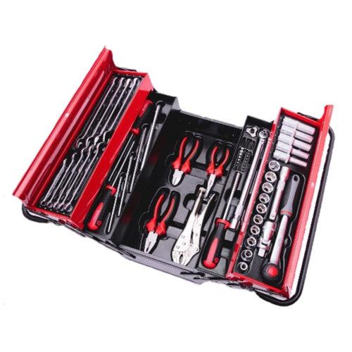 Værktøjskasse med 62 dele